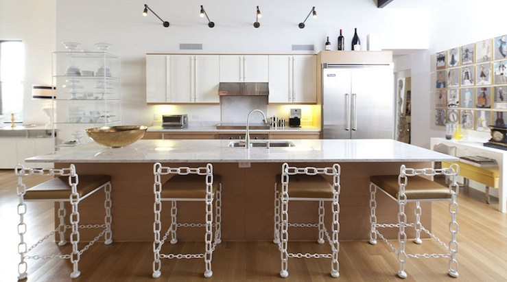 Chain Link Bar Stools Eclectic Kitchen Lucinda Loya