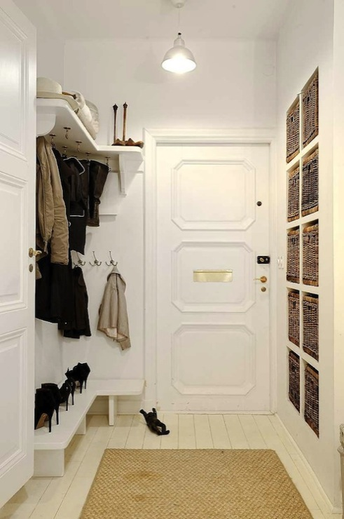 Mudroom Storage Baskets : Industrial mudroom bins design decor photos pictures