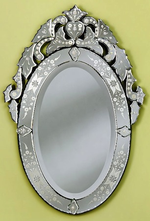 The Mirror Lady Large Oval Venetian Mirror