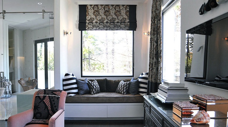 Built In Window Seat - Contemporary - bedroom - Lucinda Loya Interiors