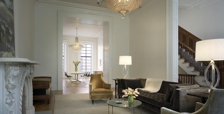 Peachy Dark Gray Velvet Sofa Contemporary Living Room Rees Bralicious Painted Fabric Chair Ideas Braliciousco