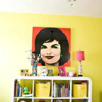 Neone Yellow Paint Colors, Contemporary, girl's room, Sherwin Williams Funky Yellow, Natalie Clayman Interior Design