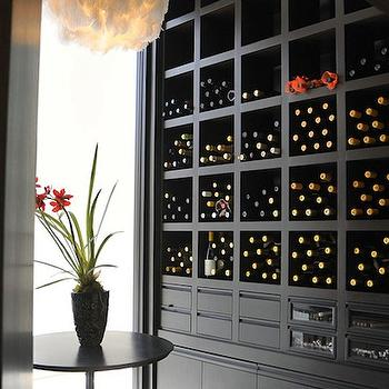 Black Built In Wine Rack Design Ideas