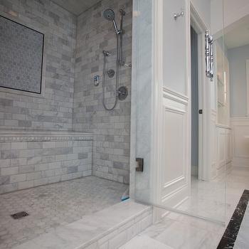Calcutta Gold Marble Bathroom, Contemporary, bathroom, Oakley Home Builders