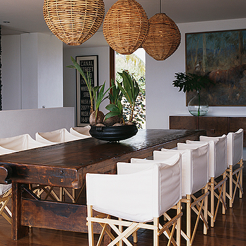 Canvas Slipcovered Dining Chairs