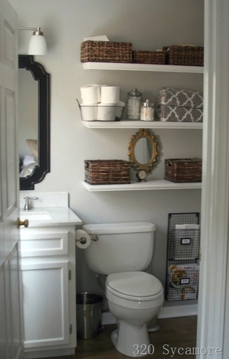 shelves over toilet cottage bathroom glidden fossil With best brand of paint for kitchen cabinets with tj maxx wall art