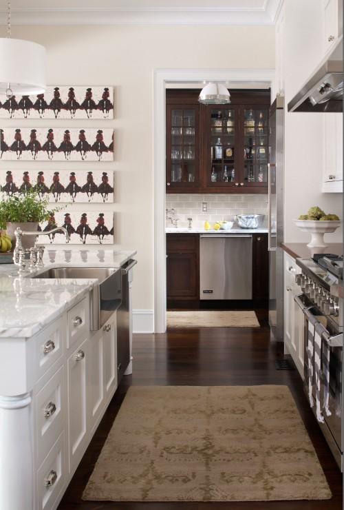 Kohler Apron Sink Transitional Kitchen Chalet