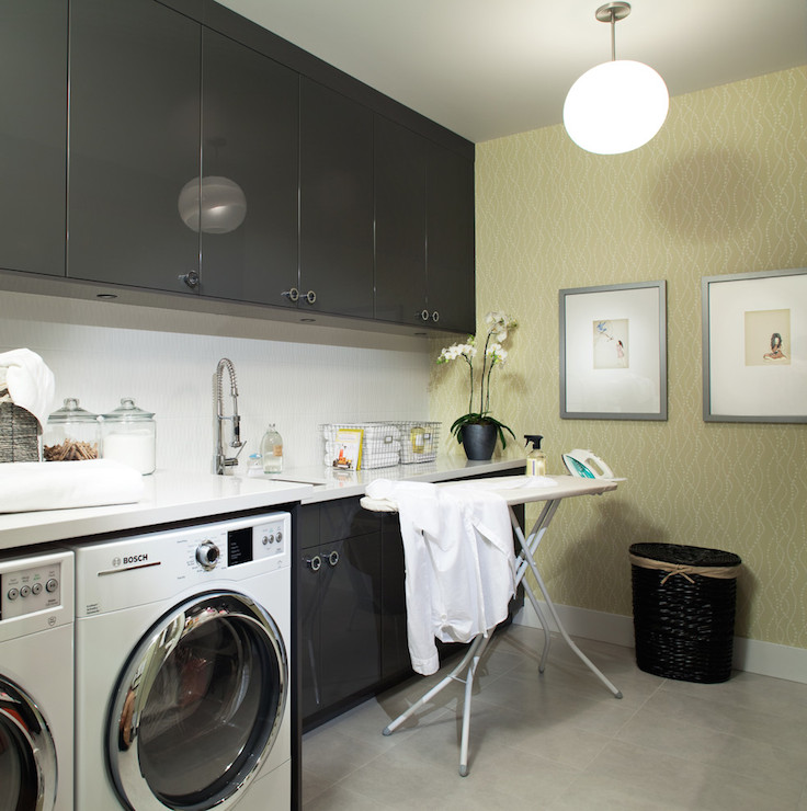 Laundry Room: Gray And Yellow Room