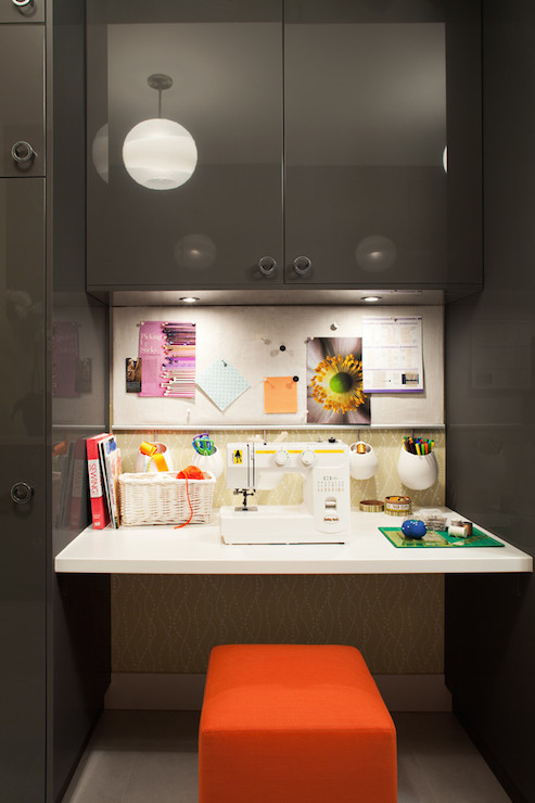Floating Desk Contemporary Laundry Room Kelly Deck