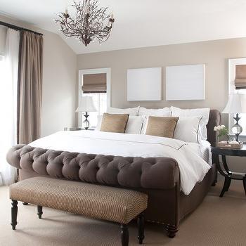 Beige Walls, Transitional, bedroom, Benjamin Moore Clay Beige, Chalet Development