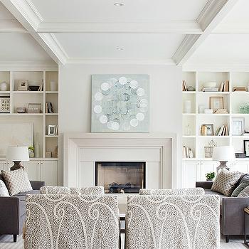 Built In Cabinets, Transitional, living room, Kelly Deck Design