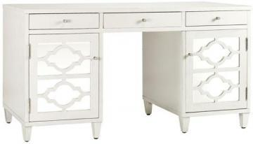 White Executive Desk With Drawers reflections executive desk - computer desks - home office