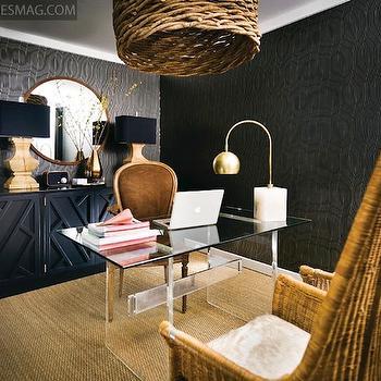 Lucite Desk, Contemporary, den/library/office, Pieces Inc