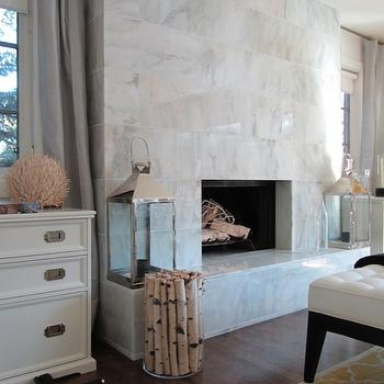 Windows Flanking Fireplace Design Ideas