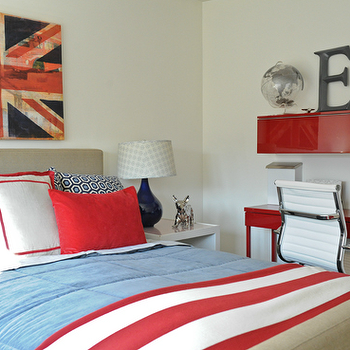 Red and Blue Desk, Contemporary, boy's room, Moth Design
