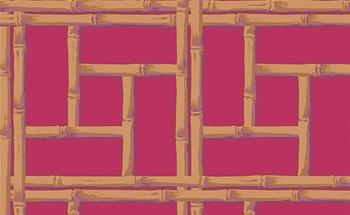 Strange Bamboo Wallpaper In Brown And Red By Raymond Waites Caraccident5 Cool Chair Designs And Ideas Caraccident5Info