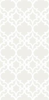Painted Gate Wallpaper in White and Ivory, Kreme
