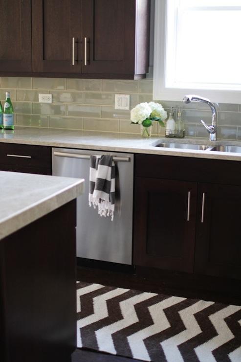 Brown kitchen cabinets contemporary kitchen - Kitchen design with dark brown cabinets ...