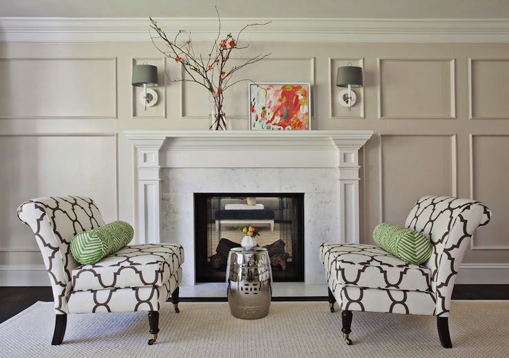Formal Living Room Fireplace Design Ideas