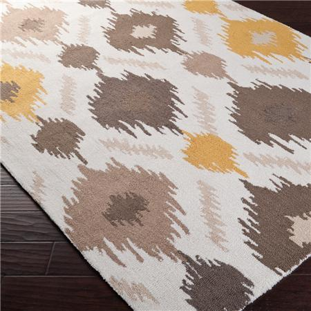 Diamond Ikat Hooked Rug ETA 5/12   Shades Of Light