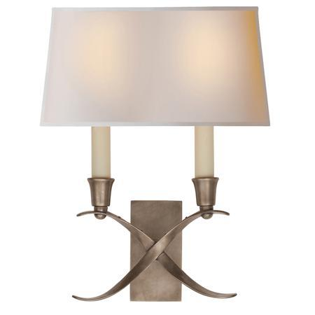 Wall Sconces Transitional : Transitional X Wall Sconce with Shade - 2 Light - Shades of Light
