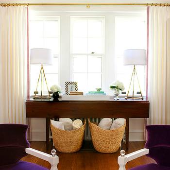 Purple Velvet Chairs, Transitional, living room, Lauren Nelson Design