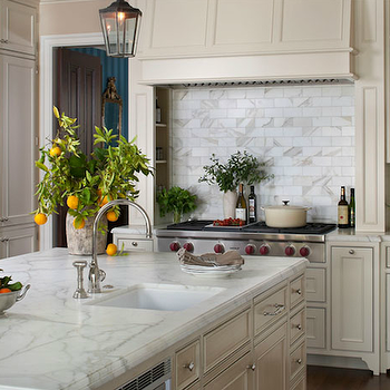 Delightful Cream Kitchen Cabinets