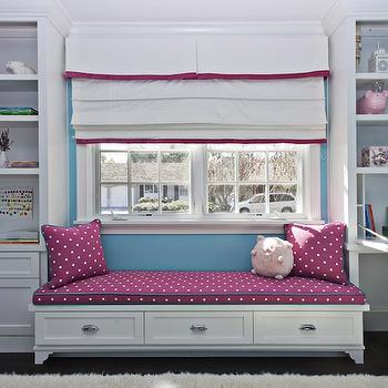 Girl's Room Window Seat, Transitional, girl's room, Fiorella Design