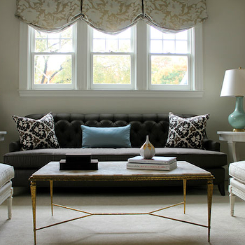 Pink Damask Chairs Transitional Living Room
