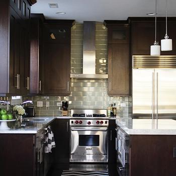 Brown Kitchen Cabinets, Contemporary, kitchen, Alexandra Berlin Design