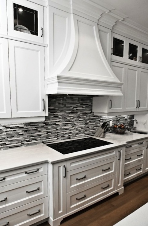 Black and Gray Glass Tile  Contemporary  kitchen  David Nosella