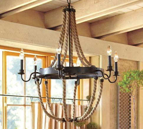 Griffin Rope Chandelier Pottery Barn