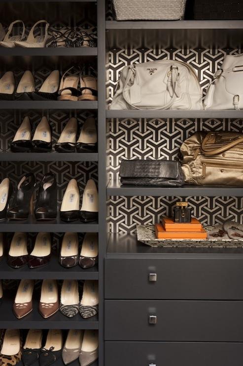 built in shoe rack contemporary closet jennifer eisenstadt. Black Bedroom Furniture Sets. Home Design Ideas