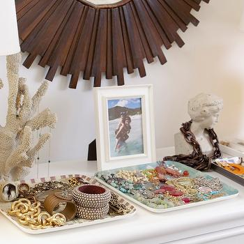Jewelry Trays, Eclectic, bedroom, Rue Magazine