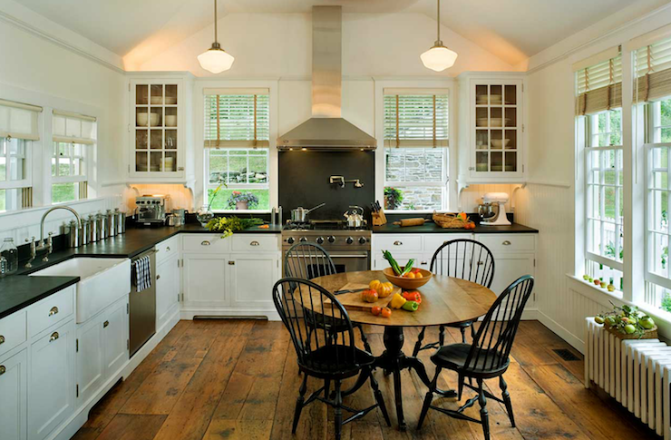 rustic wood floors - country - kitchen