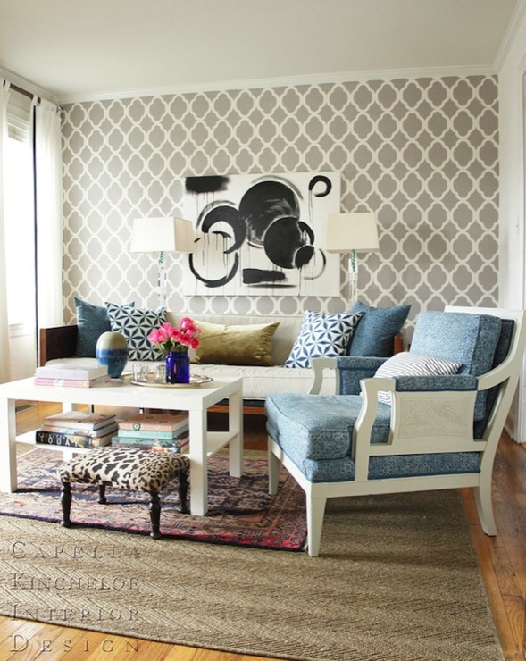 Quatrefoil Wallpaper
