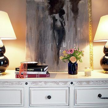 Robert Abbey Double Gourd Lamps, Contemporary, entrance/foyer, Capella Kincheloe Interior Design