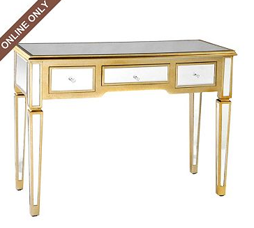 Kirklandu0027s Mirrored Manhattan Console Desk View Full Size