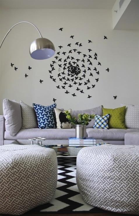Paul villinski butterfly sculpture contemporary living for Decoration murale derriere poele
