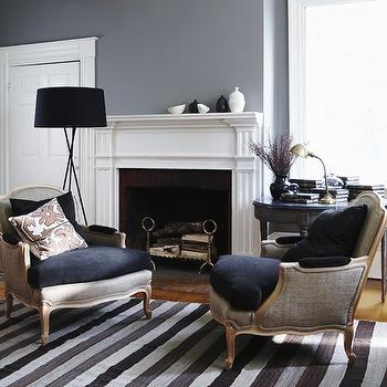 Gray Paint Colors - Transitional - Living Room - Benjamin Moore