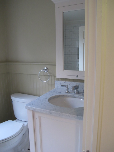 Bennington Gray Transitional Bathroom Benjamin Moore