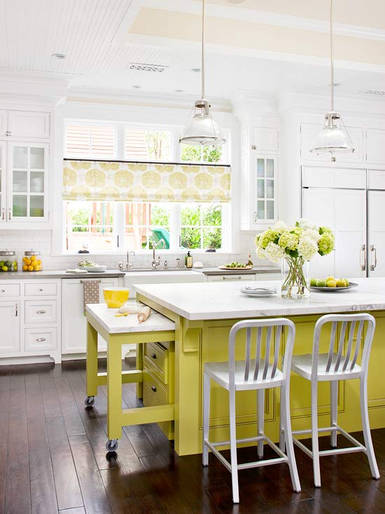 fantastic white yellow two tone kitchen with bright yellow kitchen