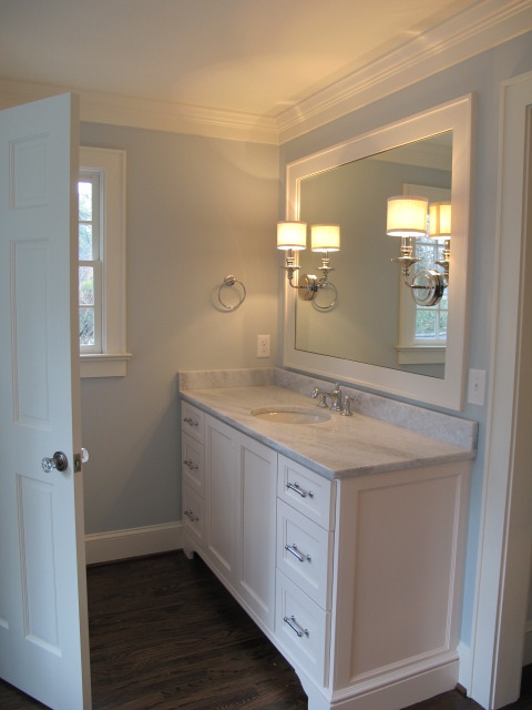 Blue Bathroom Paint Colors Transitional Bathroom Benjamin Moore Pale Smoke Sherry Hart