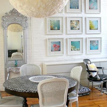 Venetian Floor Mirror, Eclectic, dining room, Nichole Loiacono Interior Design