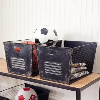 Iron File Cabinet Bins, Storage, Wisteria