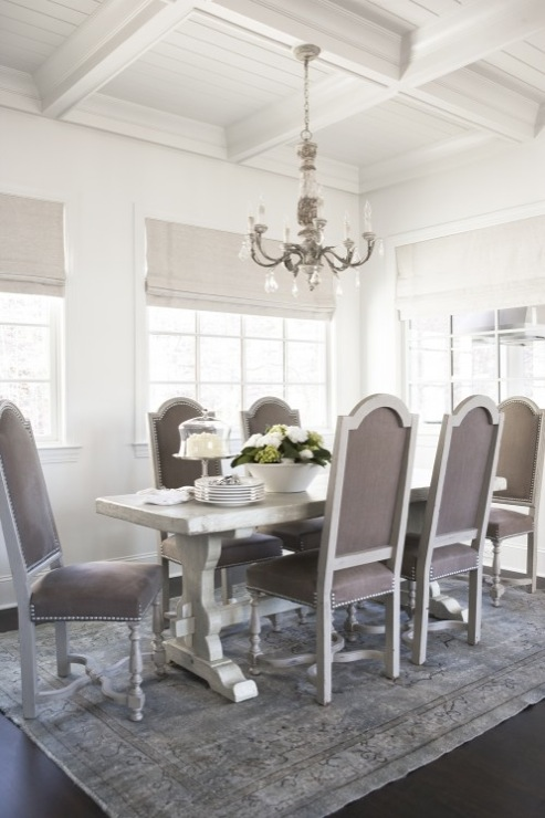 french dining table - Silver Dining Room Interior