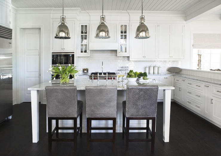 Gray Barstools Transitional Kitchen Sherwin Williams