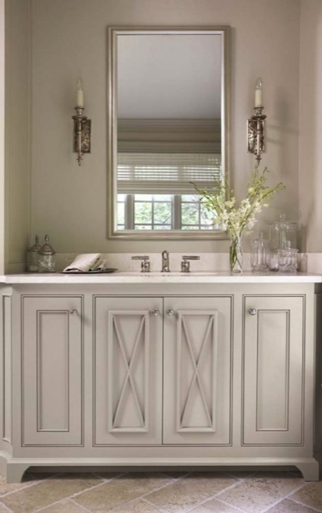 bathroom with soft gray walls paint color custom single bathroom