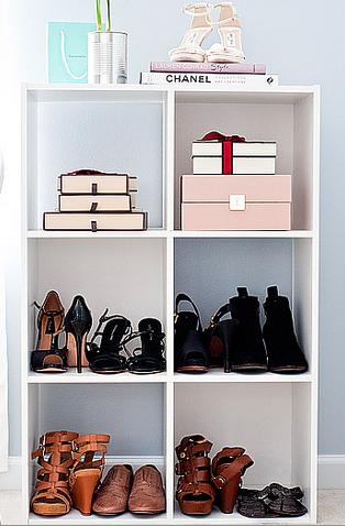 583e2792a0e603 Shoe Rack - Contemporary - closet - Benjamin Moore Feather Gray - A ...