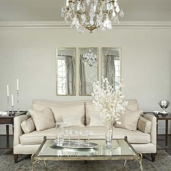 Arteriors Nikita Mirror , French, living room, Linda McDougald Design
